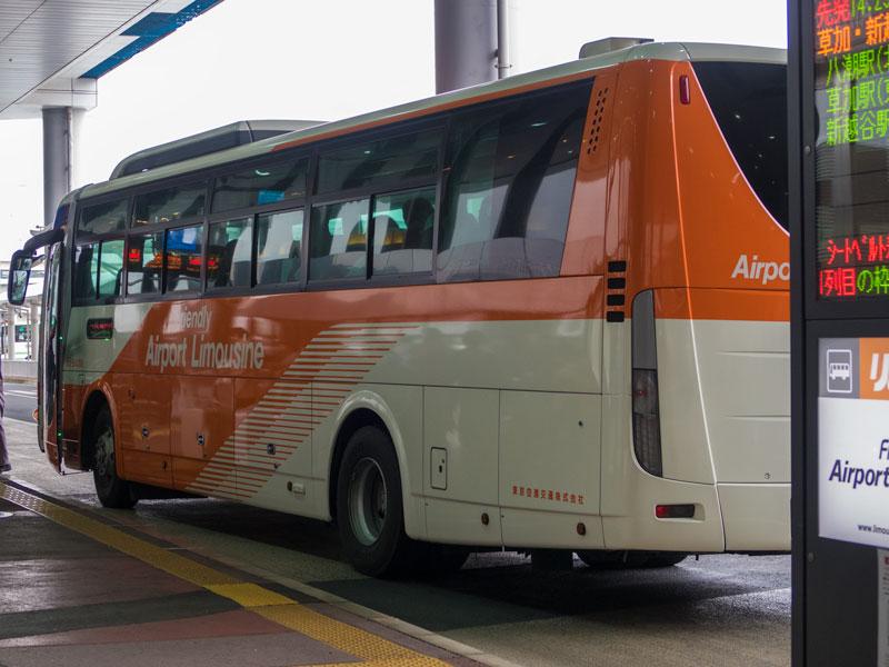 成田空港の第一ターミナルのリムジンバス乗り場