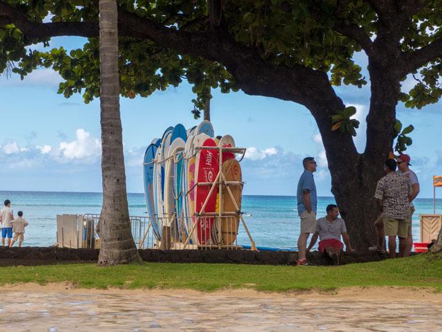 2歳児とした6泊8日のハワイ旅行記(三日目)ー朝サーフィンとワイキキ散策