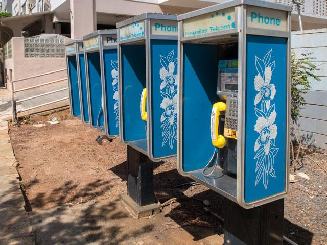 ハワイのアルファベットの電話番号の掛け方