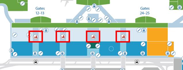 ホノルル空港の館内図