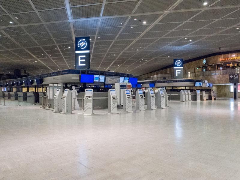 成田空港第一ターミナルの館内