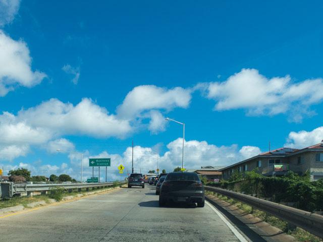 オアフ島でドライブ
