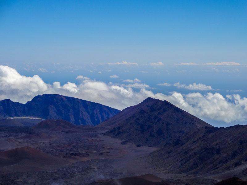 マウイ島ハレアカラ国立公園の山頂
