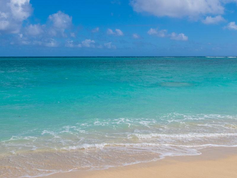 ラニカイビーチの海