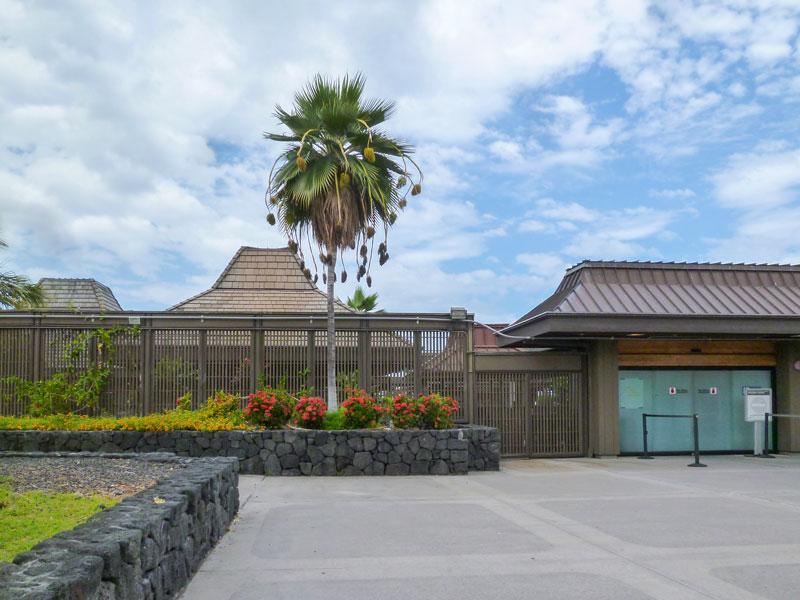 ハワイ島コナ空港の風景