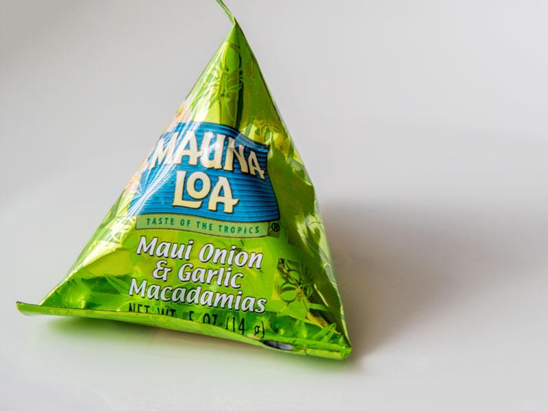 マウナロアのマカデミアナッツのパッケージ