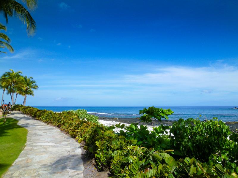 ハワイ島ヒルトンワイコロアヴィレッジの風景
