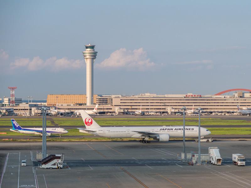 羽田空港国際線の展望デッキからの眺め