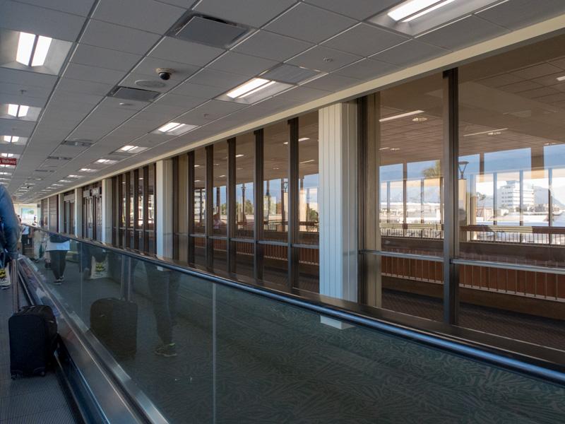 ホノルル空港の風景