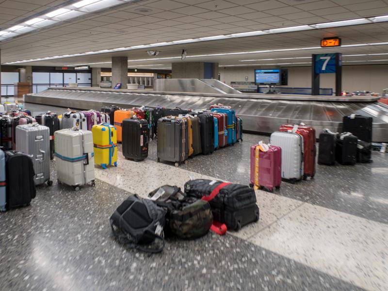 ホノルル空港D-7の手荷物受け取りエリア