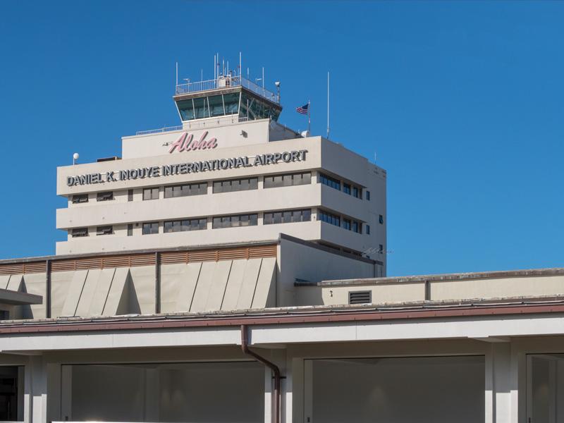 ホノルル空港の管制塔
