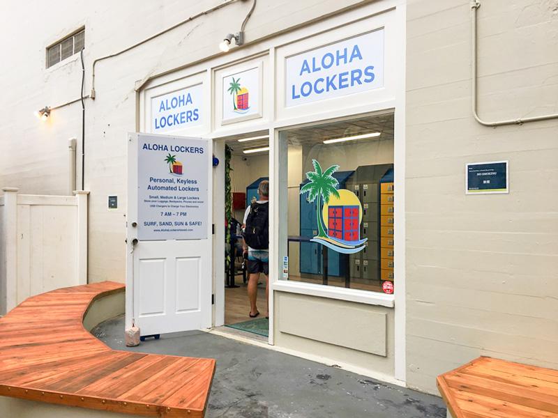 aloha lockersの入り口の外観