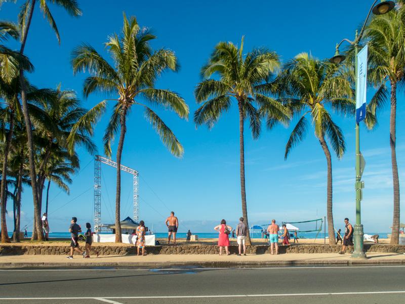 ワイキキビーチの風景