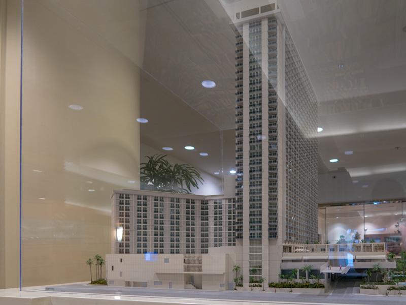 アラモアナ・ホテルの外観の模型