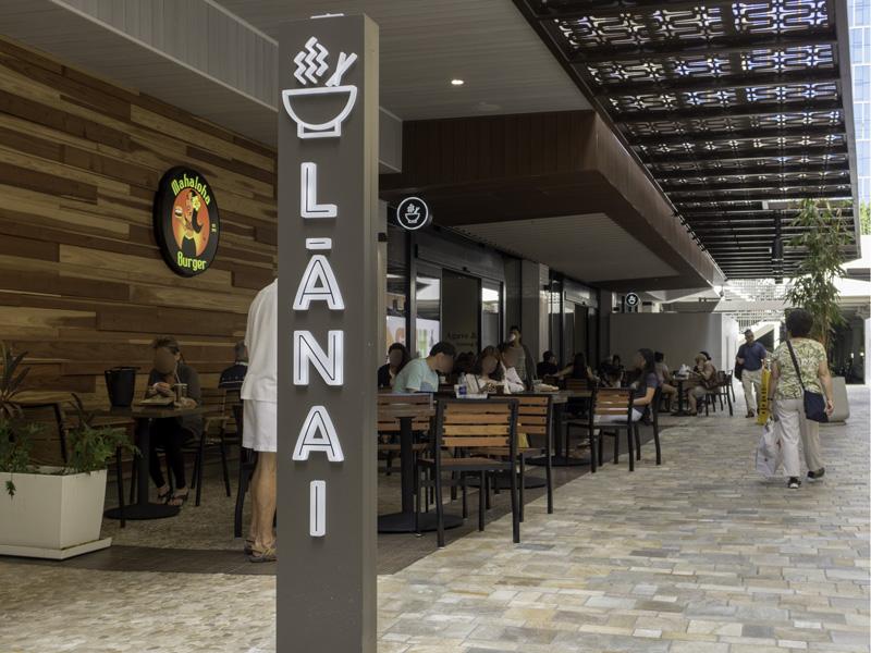 アラモアナセンターのラナイの入り口