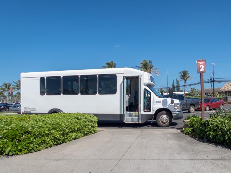 ポリネシア・カルチャー・センター行きのバス