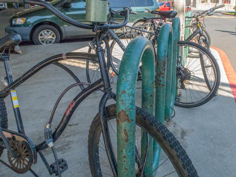 カハラモールの自転車置き場がある場所