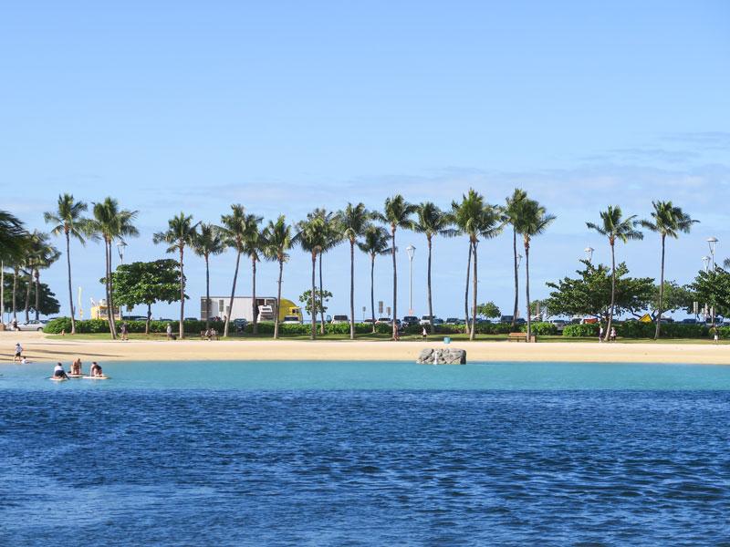 ヒルトン・ハワイアン・ビレッジで4歳児が砂遊びをするのによかった場所
