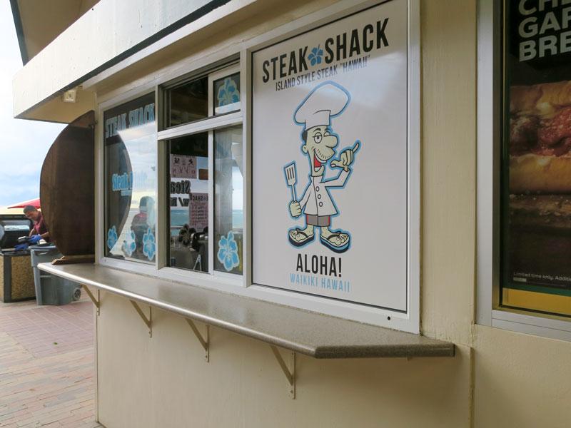 ワイキキアンから徒歩で夕食用のおかずにステーキを持ち帰りで買えた店