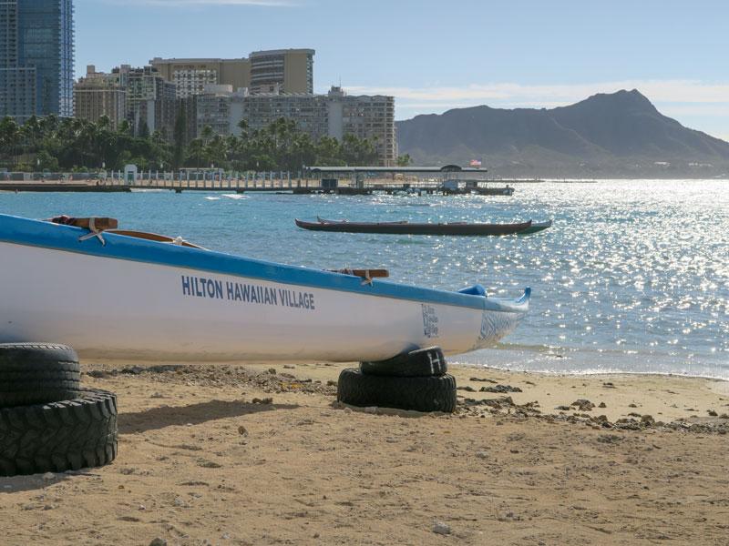 1月の14時から4歳児とヒルトン・ハワイアン・ビレッジのビーチで遊んだ後、寒かった話