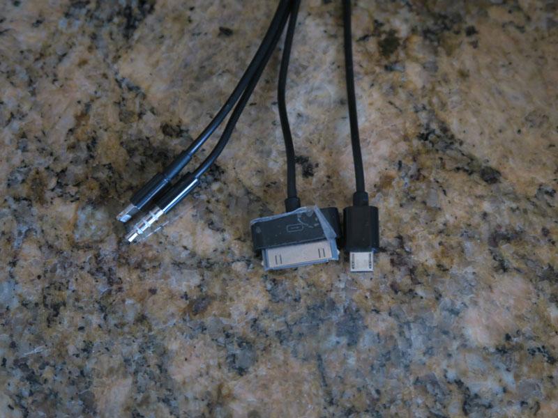 グランド・ワイキキアン部屋設備のスマホの充電ケーブルの端子
