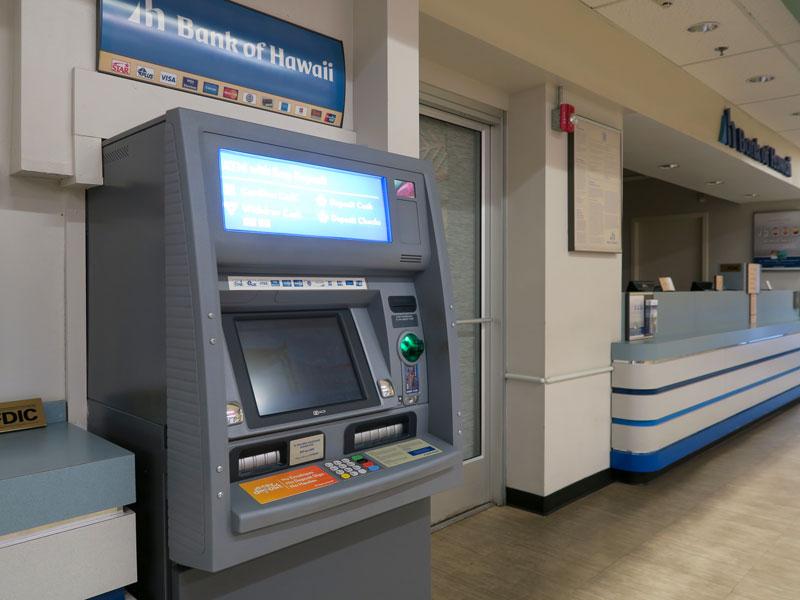 コナ・コースト・リゾート最寄りのハワイ銀行のATMでドルの現金を引き出した体験談