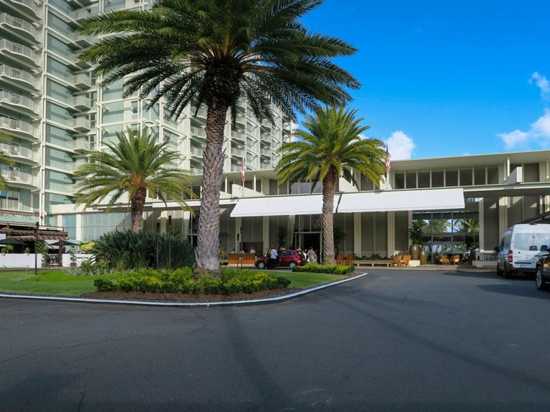 カハラホテルのチェックイン日、早めに部屋に入れた時間の例