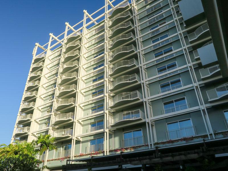 カハラホテル、オーシャンビューの部屋タイプの実際の位置