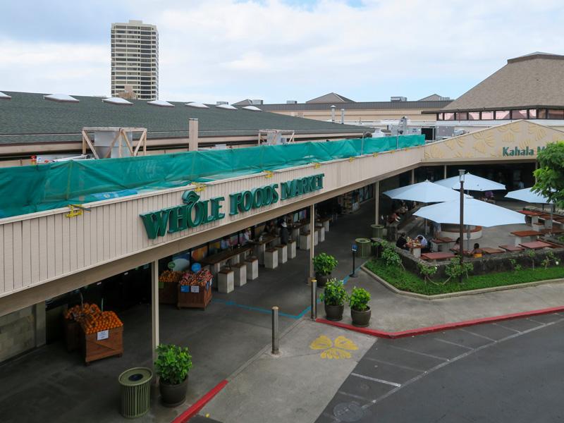 2階でもWhole Foodsに行くのに便利だったカハラモールの駐車場所