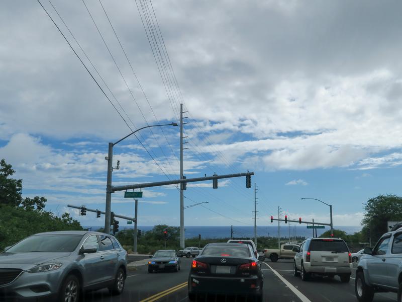 ハワイ島カイルアコナで渋滞があった道路と時間帯の例