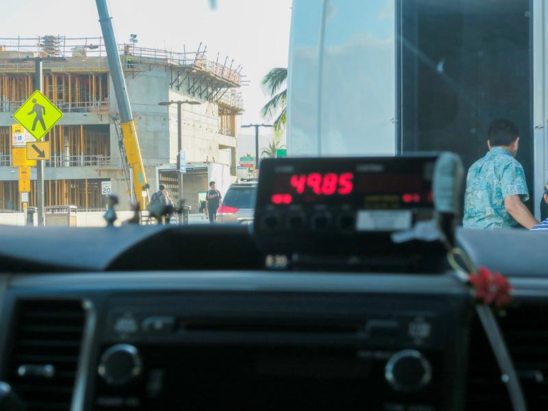 カハラホテルからホノルル空港までのタクシー料金の例