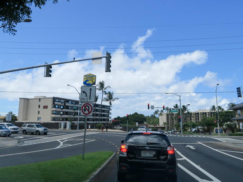 ハワイ島カイルアコナ散策のために利用しようとしてやめた駐車場の例