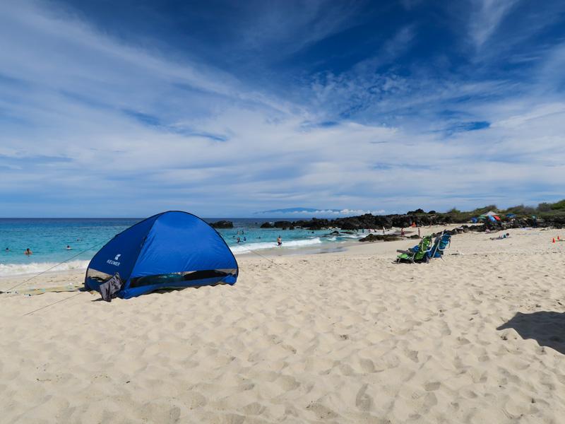 ハワイ島、クアベイのビーチで「これがあると快適に過ごせるな」と思ったもの